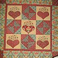 Hearts a bloom made using the Hemming House by Moda range