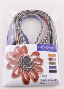IJZ100 Zipper accent classic $24 1yd ea 5 colours metal teeth